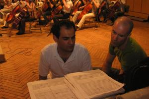 Mehdi Hosseini and composer Timothy Dunne